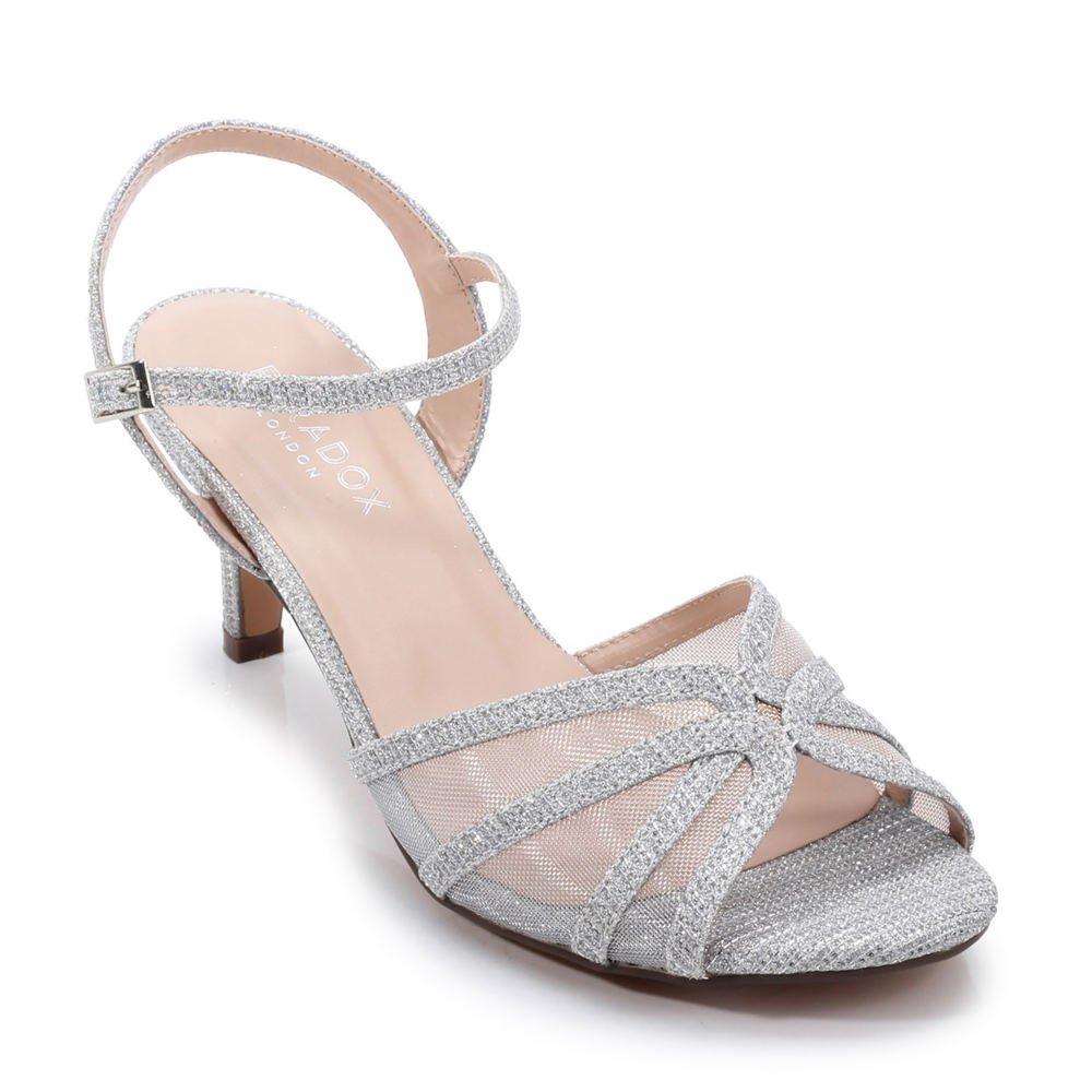 70s Shoes, Platforms, Boots, Heels | 1970s Shoes Paradox London Helice Womens Silver Sandal 6.5 M $69.95 AT vintagedancer.com