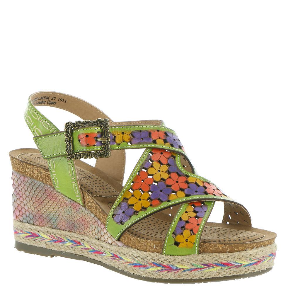 70s Shoes, Platforms, Boots, Heels Spring Step LArtiste Lolarose Womens Green Sandal Euro 39 US 8.5 M $99.95 AT vintagedancer.com