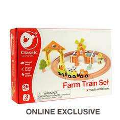 Wood Farm Train Set