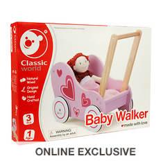 Wooden Toy Doll Stroller