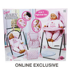 Baby Doll 6-in-1 Highchair Play Set