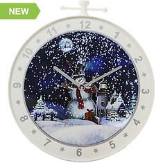 Fraser Hill 23'' Wall Clock Snowman Scene