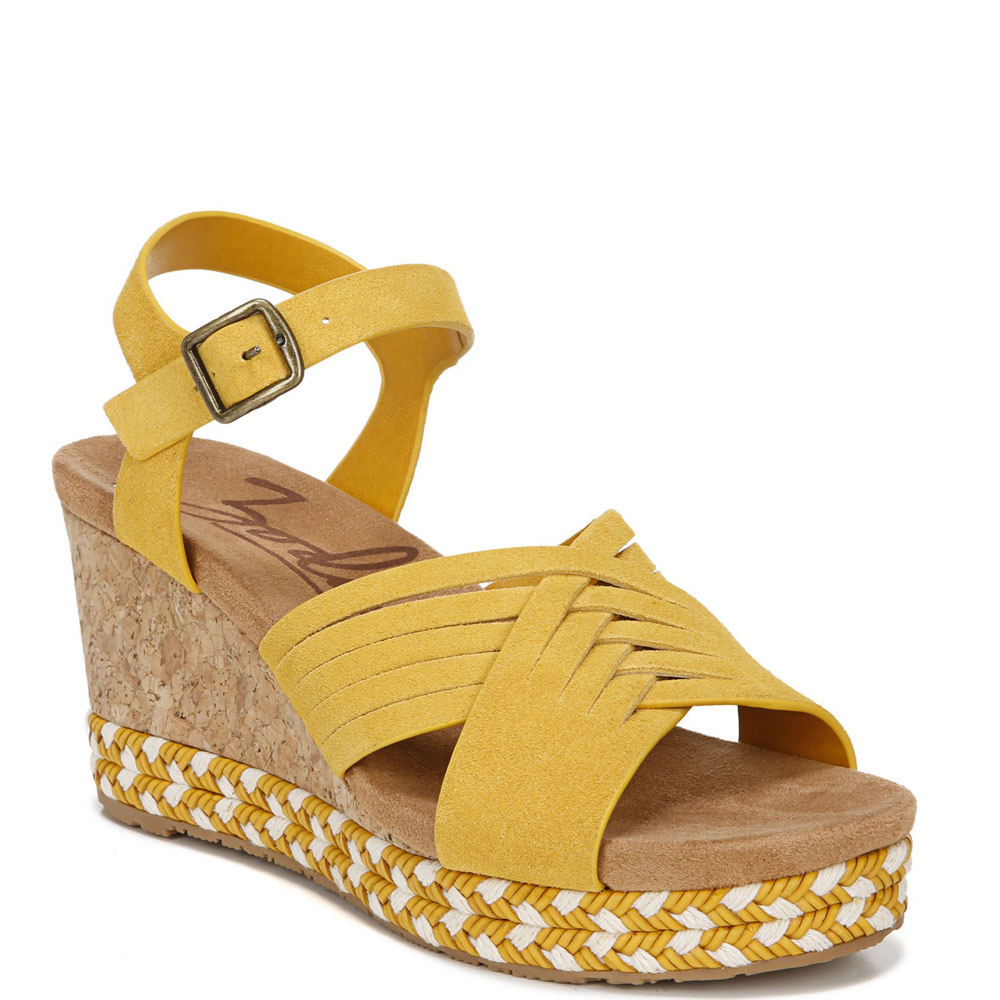 Pin Up Shoes- Heels, Pumps & Flats Zodiac Paola Womens Yellow Sandal 9 M $89.95 AT vintagedancer.com