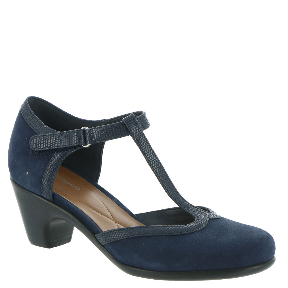 1930s Shoes – Art Deco Shoes, Heels, Boots, Sandals Easy Spirit Cara Womens Navy Pump 11 W $89.95 AT vintagedancer.com