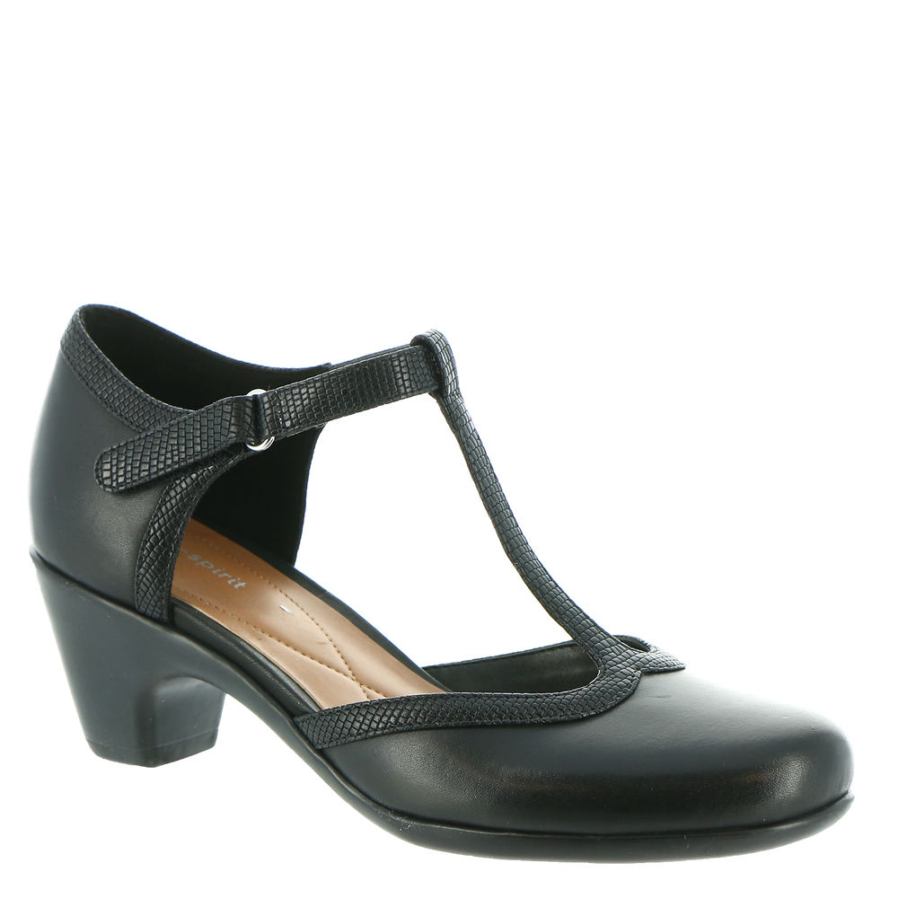 1920s Style Shoes, Heels, Boots Easy Spirit Cara Womens Black Pump 10.5 M $89.95 AT vintagedancer.com