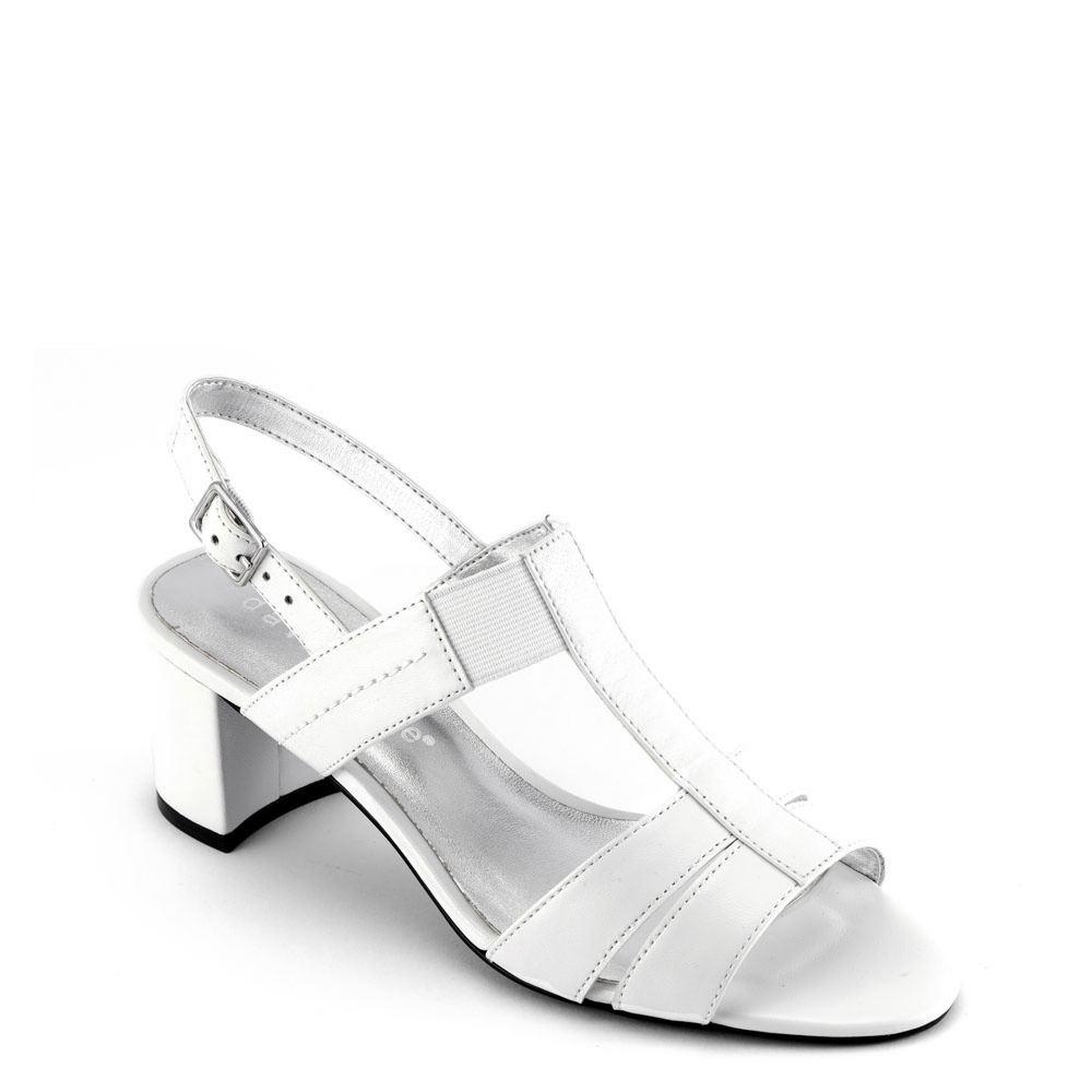 60s Shoes, Boots David Tate Secret Womens White Sandal 7 M $112.95 AT vintagedancer.com