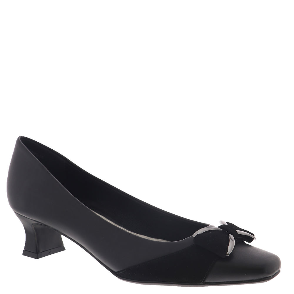 Edwardian Shoes – Styles for Women Easy Street Rejoice Womens Black Pump 6.5 N $59.95 AT vintagedancer.com