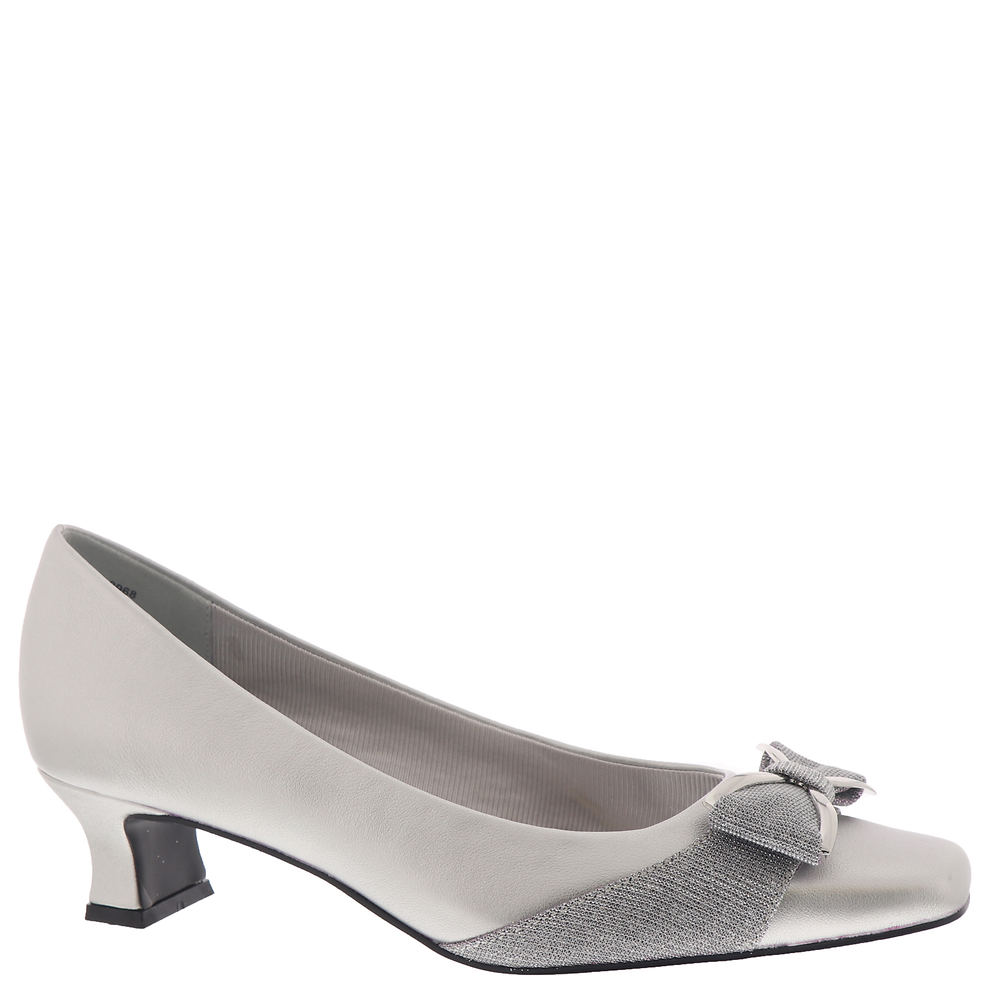 Edwardian Shoes – Styles for Women Easy Street Rejoice Womens Silver Pump 12 M $59.95 AT vintagedancer.com