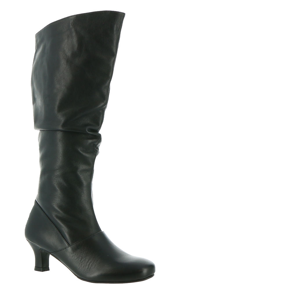 70s Shoes, Platforms, Boots, Heels | 1970s Shoes ARRAY Groovey Womens Black Boot 7.5 W $175.95 AT vintagedancer.com