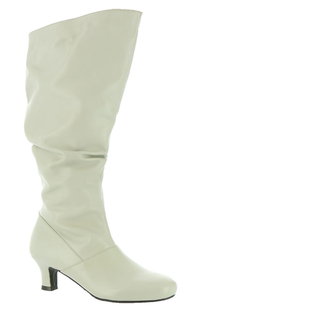 70s Shoes, Platforms, Boots, Heels | 1970s Shoes ARRAY Groovey Womens Bone Boot 10 W $175.95 AT vintagedancer.com