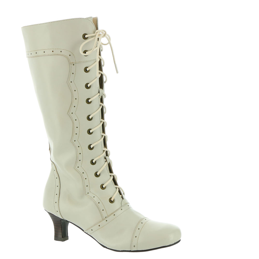 History of Victorian Boots & Shoes for Women ARRAY Vintage Womens Bone Boot 6.5 M $186.95 AT vintagedancer.com