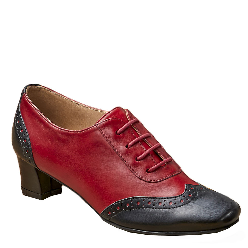 Pin Up Shoes- Heels, Pumps & Flats ARRAY First Class Womens Red Oxford 12 M $89.95 AT vintagedancer.com