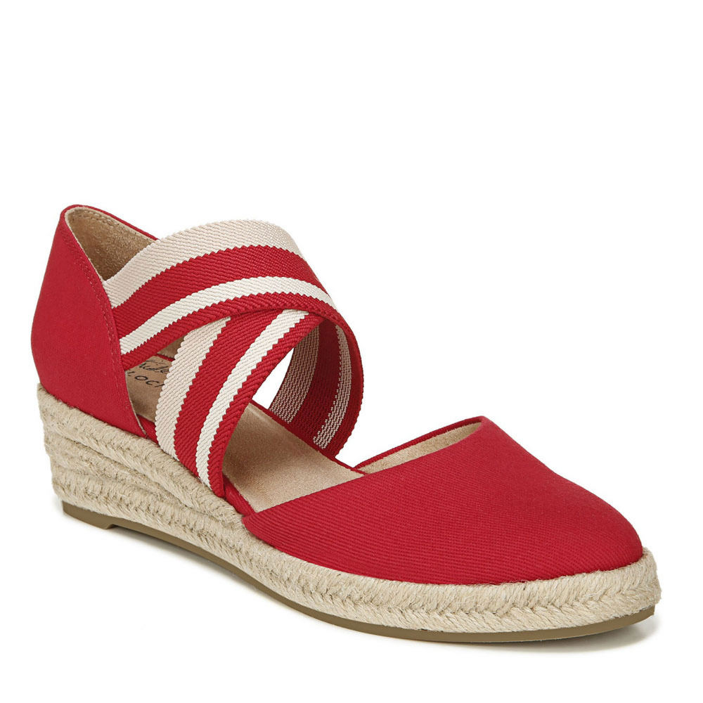 Vintage Sandals | Wedges, Espadrilles – 30s, 40s, 50s, 60s, 70s LifeStride Keaton Espadrille Womens Red Sandal 7 W $74.95 AT vintagedancer.com