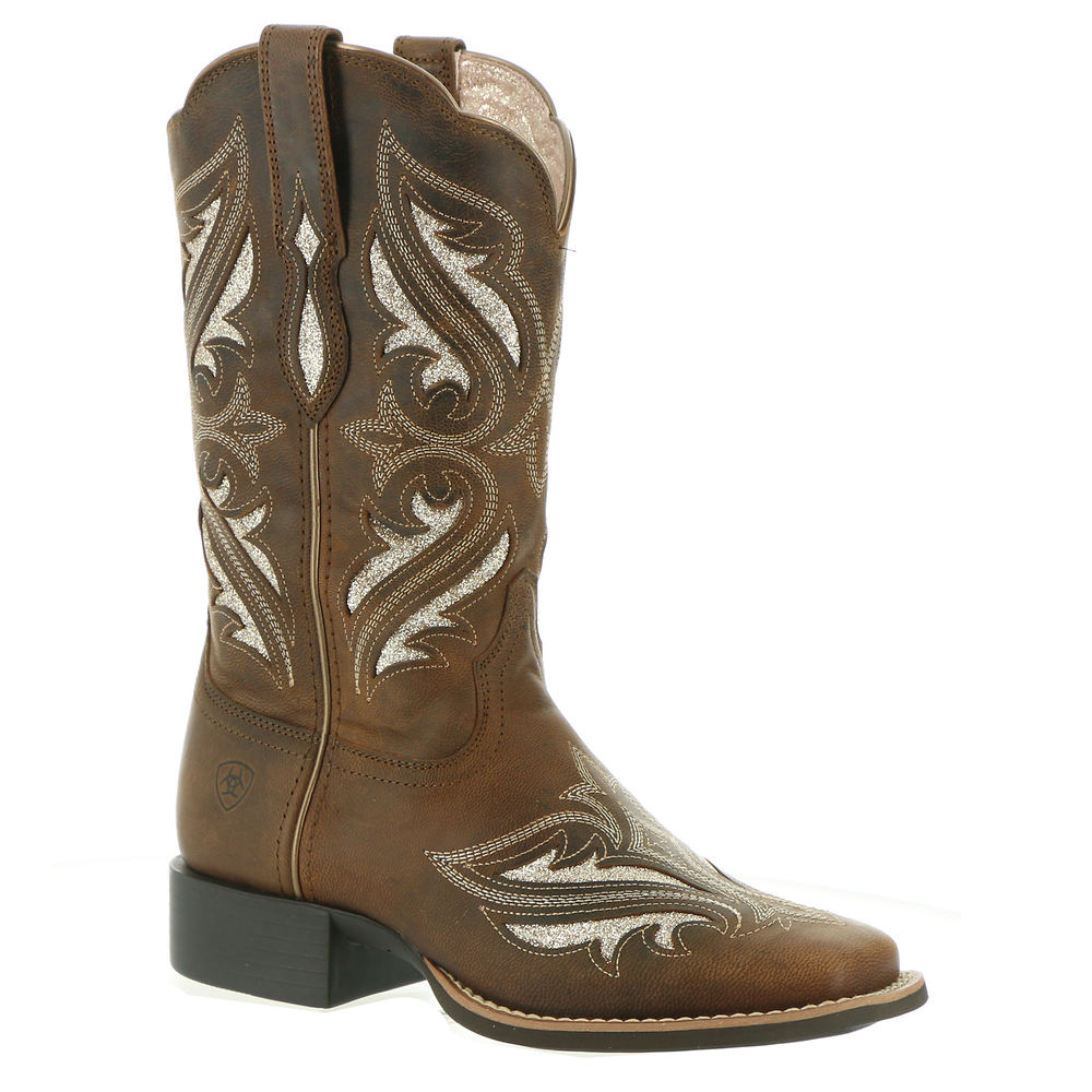 Vintage Western Wear Clothing, Outfit Ideas Ariat Round Up Bliss Womens Brown Boot 6.5 M $184.95 AT vintagedancer.com