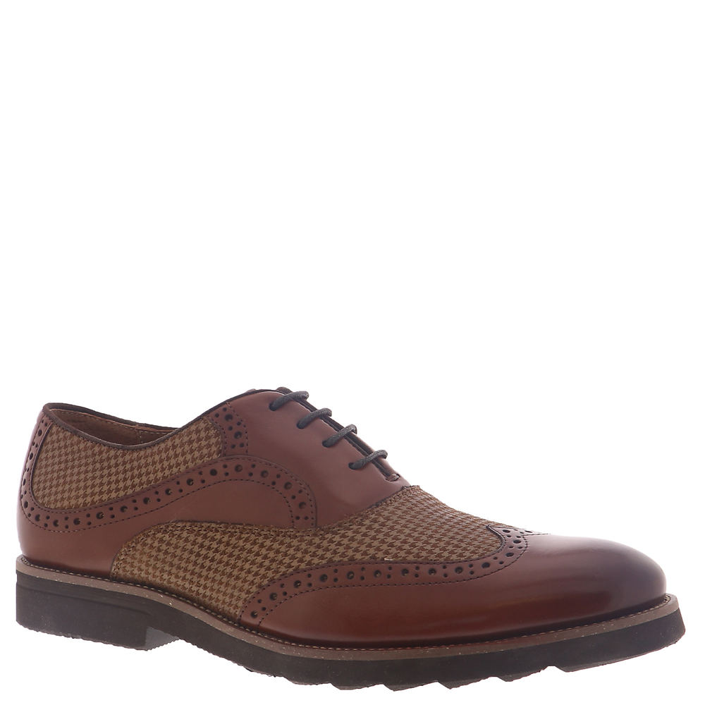 Men's 1950s Shoes Styles- Classics to Saddles to Rockabilly Stacy Adams Callan Mens Brown Oxford 8.5 M $114.95 AT vintagedancer.com