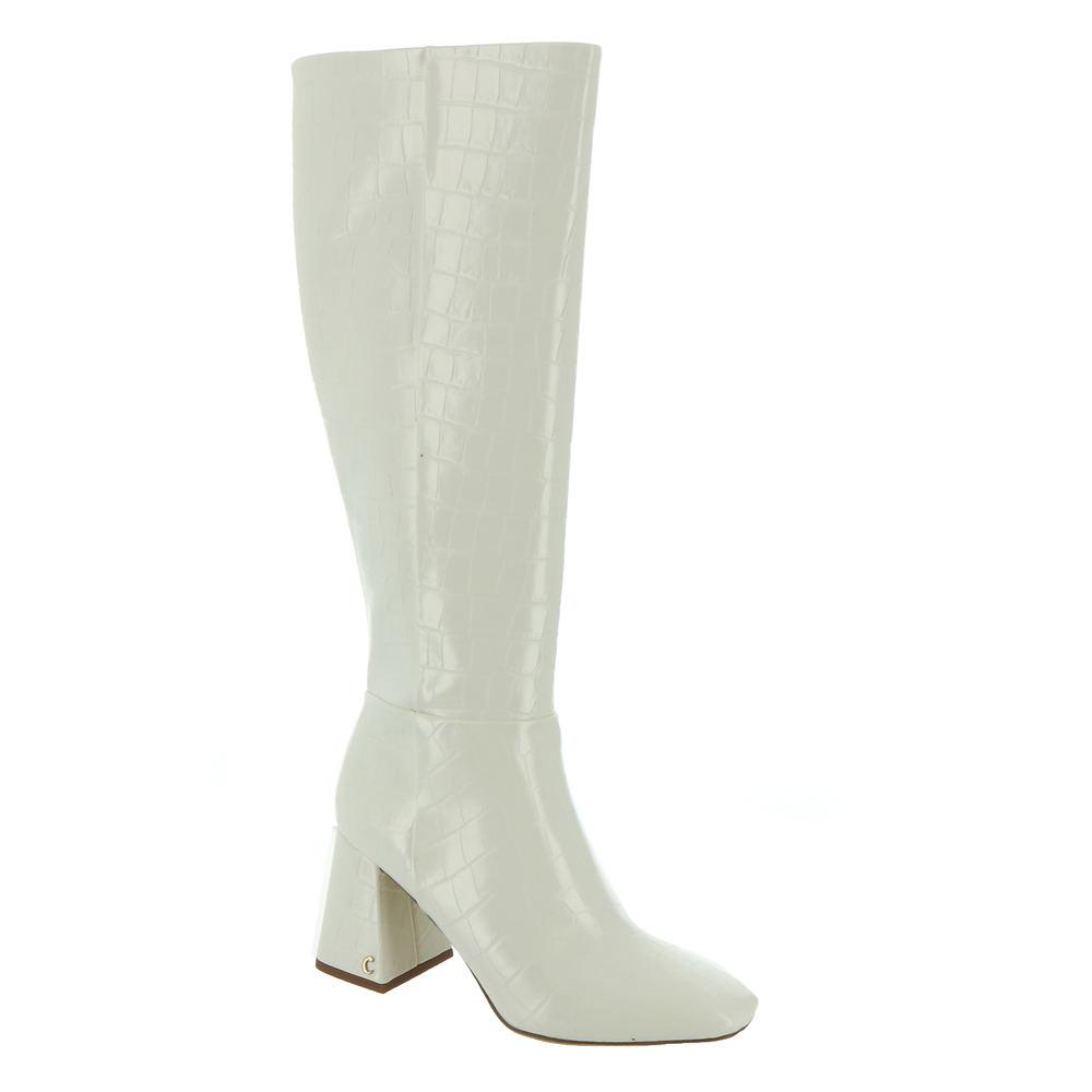 60s Shoes, Go Go Boots Circus by Sam Edelman Karina Womens White Boot 10 M $99.95 AT vintagedancer.com