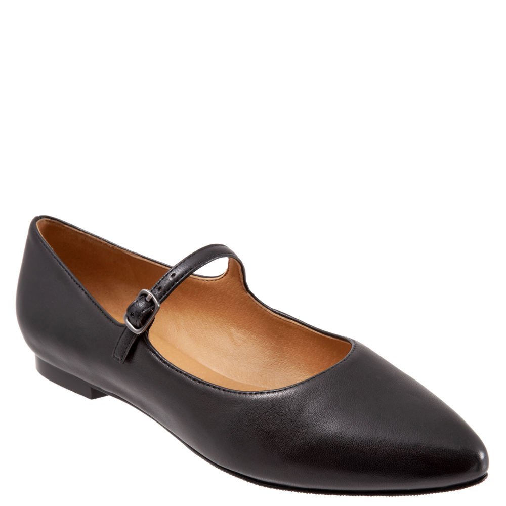1920s Style Shoes Trotters Hester Womens Black Slip On 9.5 W $94.95 AT vintagedancer.com