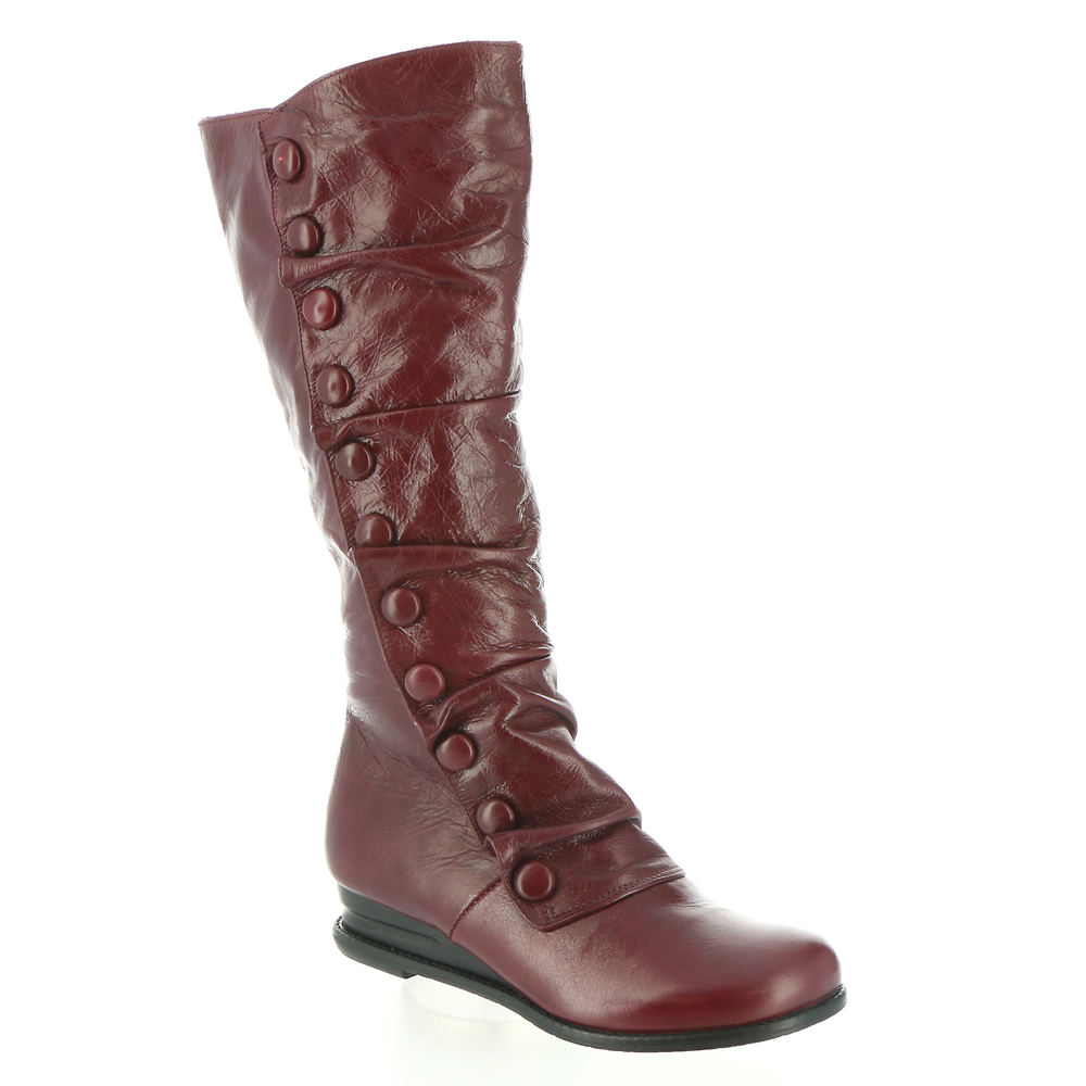 History of Victorian Boots & Shoes for Women Miz Mooz Bobbie Womens Red Boot 8 M $199.95 AT vintagedancer.com