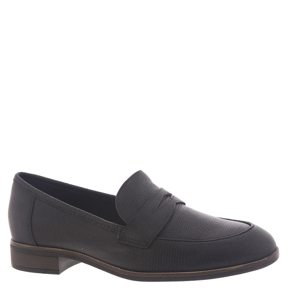 Rockabilly Shoes- Heels, Pumps, Boots, Flats Clarks Trish Rose Womens Black Slip On 7 M $84.95 AT vintagedancer.com