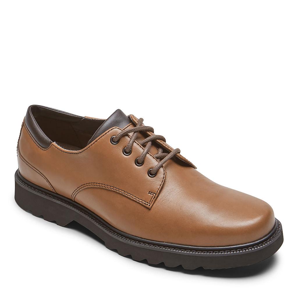 Mens Vintage Shoes, Boots | Retro Shoes & Boots Rockport Northfield Mens Brown Oxford 8.5 XW $109.95 AT vintagedancer.com
