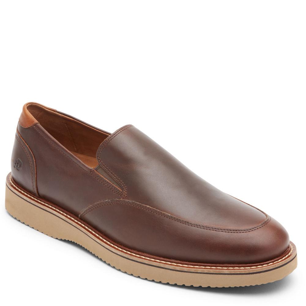 Mens Vintage Shoes, Boots | Retro Shoes & Boots Dunham Clyde Slip-On Mens Tan Slip On 16 D $159.95 AT vintagedancer.com