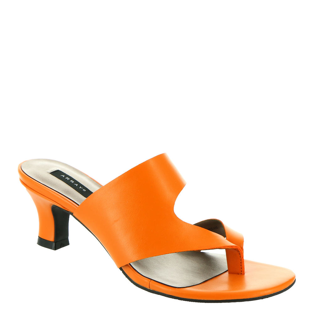 70s Shoes, Platforms, Boots, Heels | 1970s Shoes ARRAY Arden Womens Orange Sandal 7 W $79.95 AT vintagedancer.com