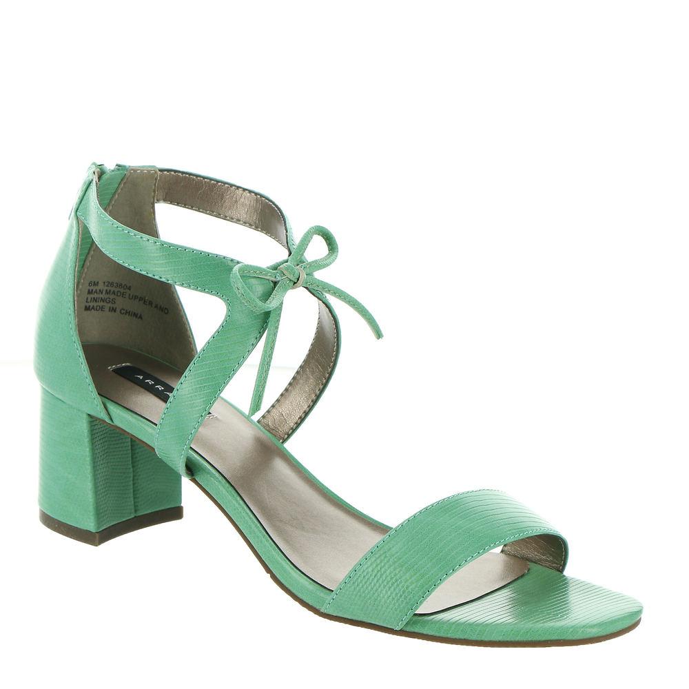 70s Shoes, Platforms, Boots, Heels | 1970s Shoes ARRAY Sicily Womens Green Sandal 8 W $59.95 AT vintagedancer.com
