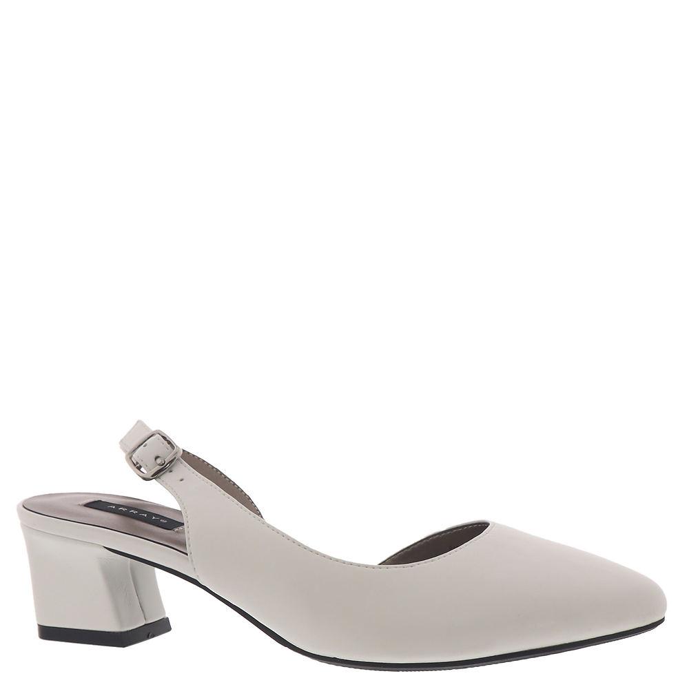 60s Shoes, Go Go Boots   1960s Shoes ARRAY Sarah Womens White Pump 7.5 M $59.95 AT vintagedancer.com