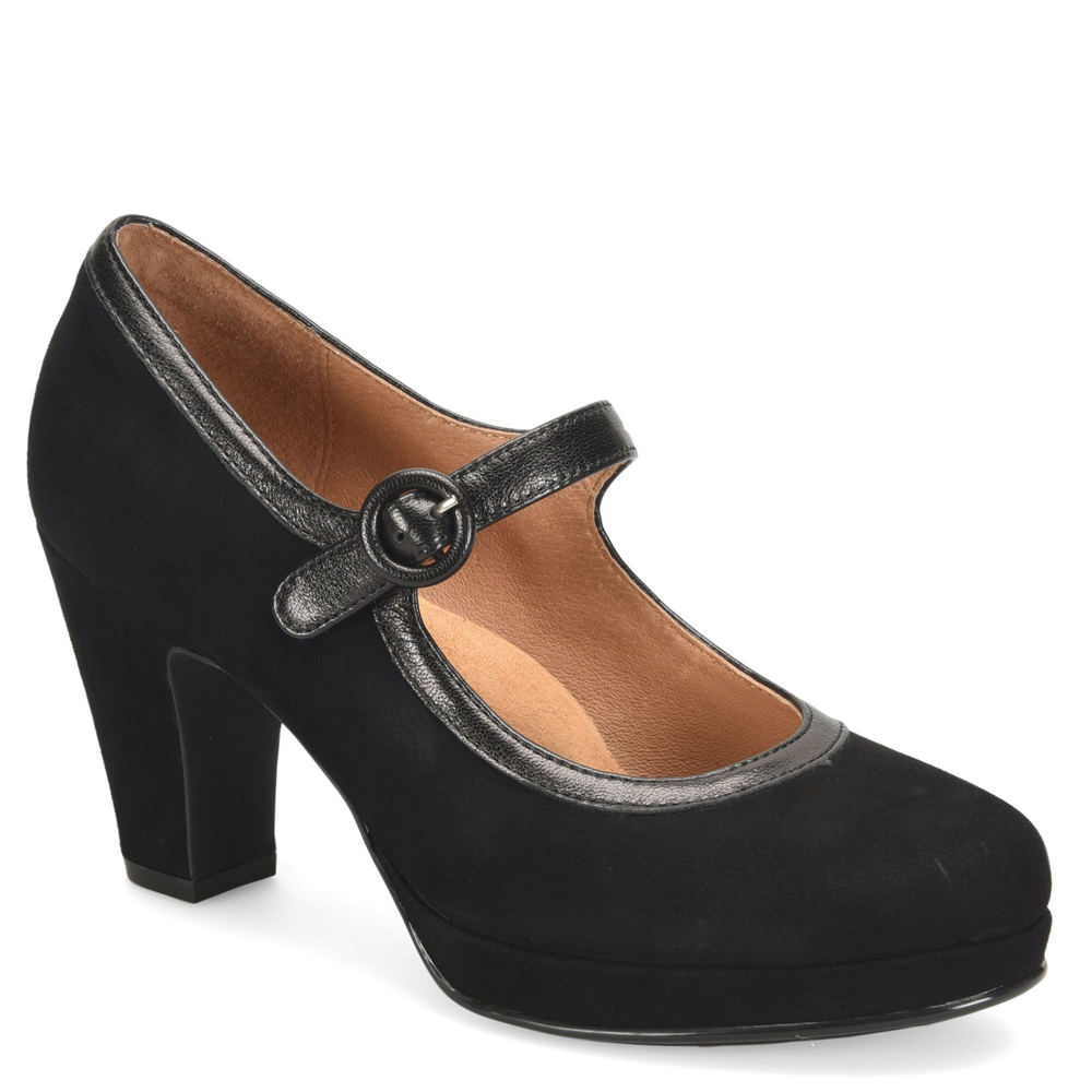 1940s Style Shoes, 40s Shoes, Heels, Boots Sofft Grayling Womens Black Pump 8.5 M $119.95 AT vintagedancer.com