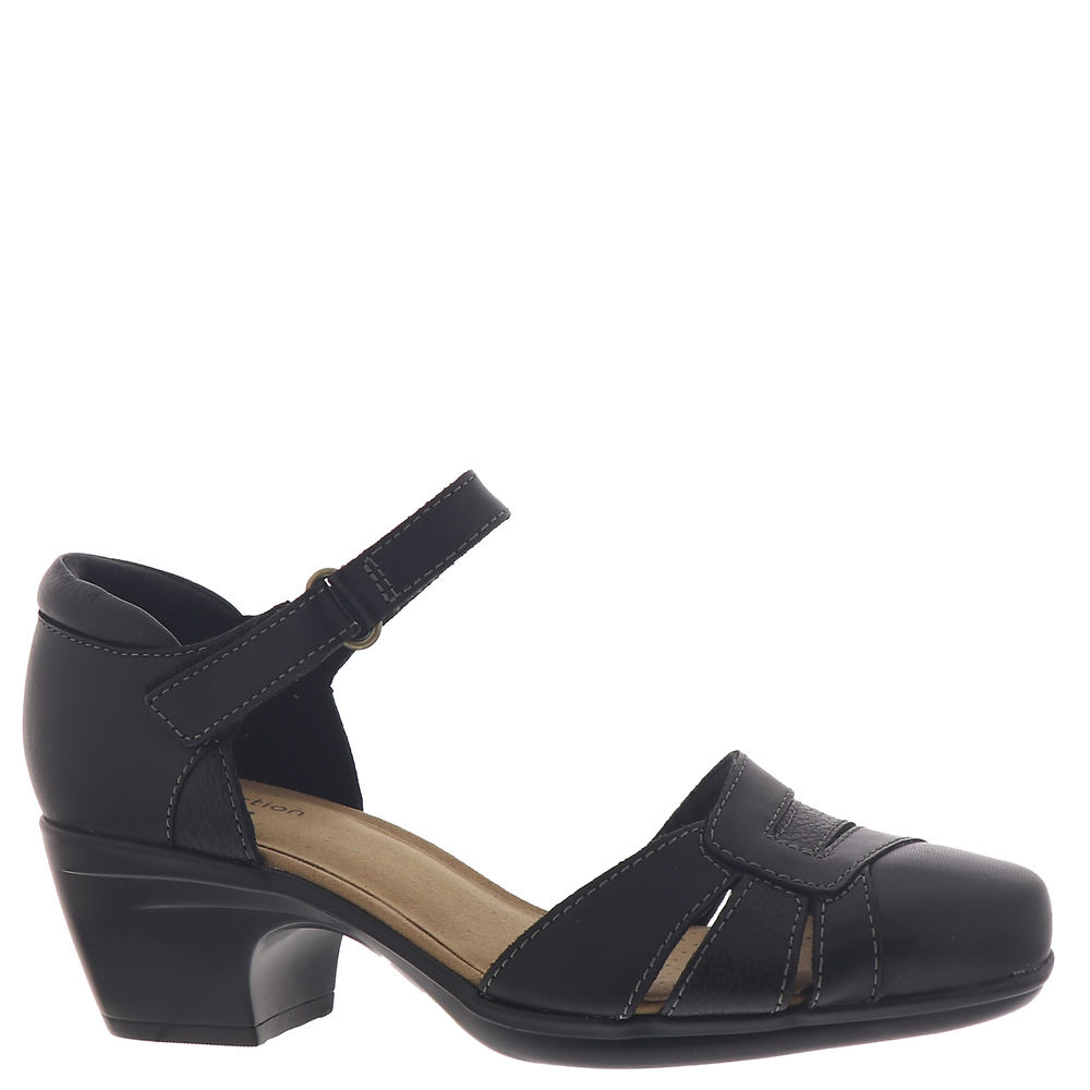 1950s Style Shoes | Heels, Flats, Boots Clarks Emily Daisy Womens Black Pump 6 W $79.95 AT vintagedancer.com