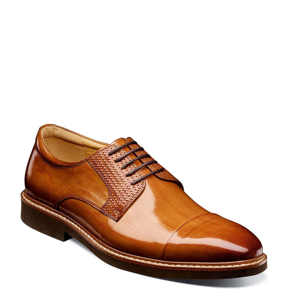 Mens Vintage Shoes, Boots | Retro Shoes & Boots Stacy Adams Gilmore Mens Tan Oxford 7.5 M $119.95 AT vintagedancer.com