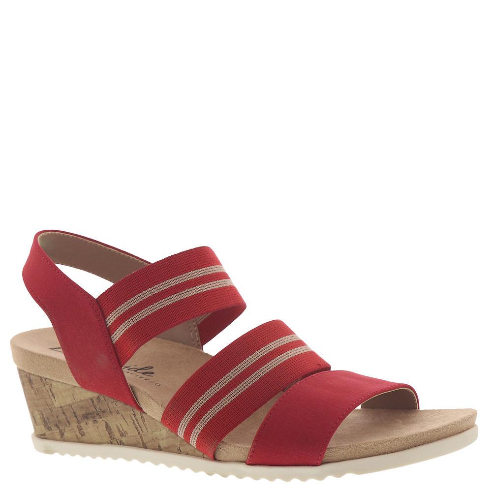 Vintage Sandals | Wedges, Espadrilles – 30s, 40s, 50s, 60s, 70s Life Stride Sunshine Womens Red Sandal 6 W $54.95 AT vintagedancer.com