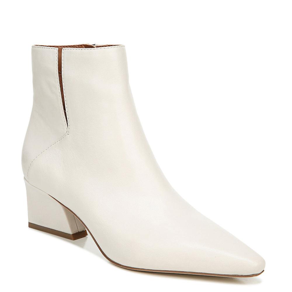 60s Shoes, Go Go Boots Franco Sarto Sandria Womens Bone Boot 11 M $148.95 AT vintagedancer.com