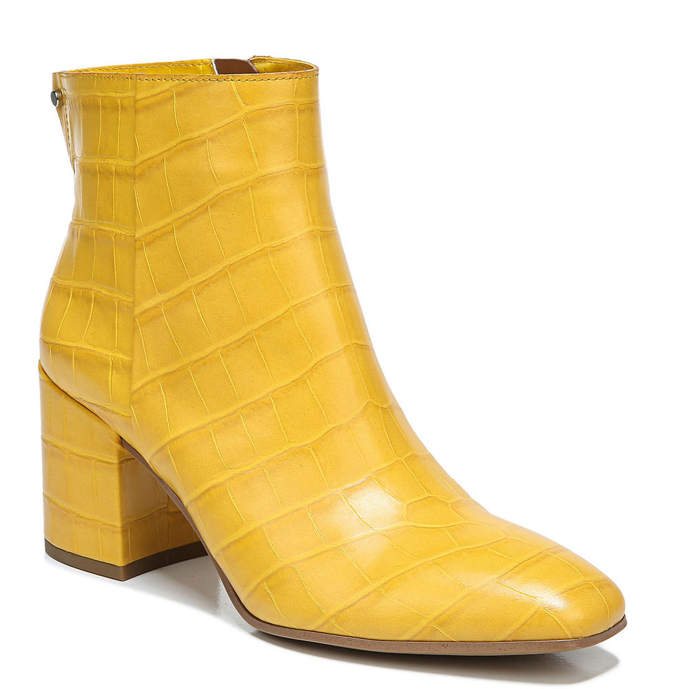 Vintage Boots, Retro Boots Franco Sarto Tina2 Womens Yellow Boot 8 M $158.95 AT vintagedancer.com