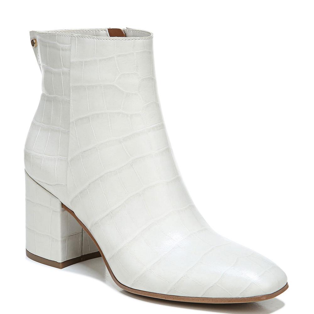 60s Shoes, Go Go Boots Franco Sarto Tina2 Womens Bone Boot 6.5 M $158.95 AT vintagedancer.com