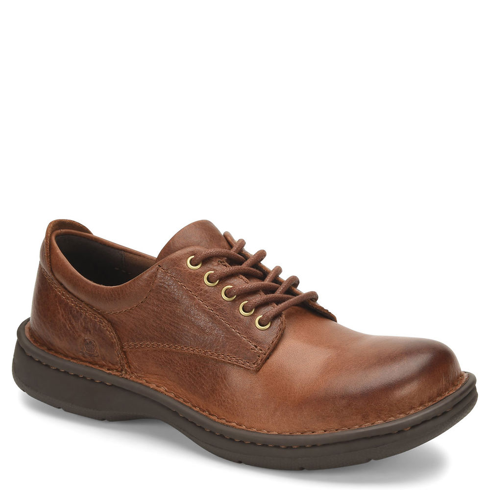 Mens Vintage Shoes, Boots | Retro Shoes & Boots Born Hutchins III Mens Tan Oxford 13 M $99.95 AT vintagedancer.com