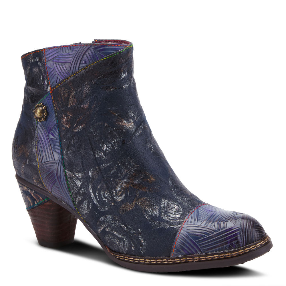 Steampunk Boots & Shoes, Heels & Flats Spring Step L Artiste Waterlily Womens Navy Boot Euro 41 US 9.5 - 10 M $129.95 AT vintagedancer.com