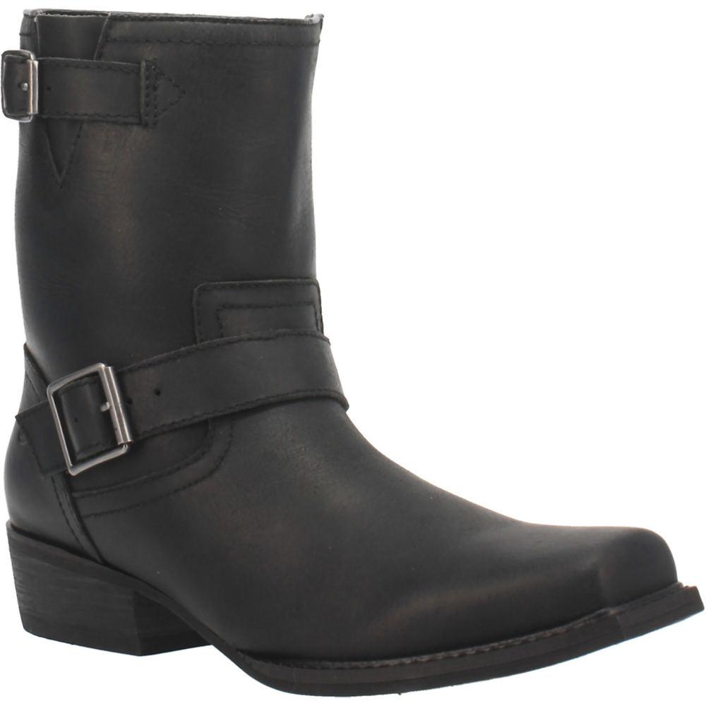 Mens Vintage Shoes, Boots | Retro Shoes & Boots Dingo Hackett Mens Black Boot 12 D $164.95 AT vintagedancer.com