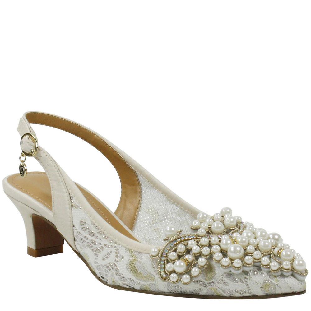 Victorian Wedding Dresses, Shoes, Accessories J. Renee Strovanni Womens Bone Pump 8.5 M $99.95 AT vintagedancer.com