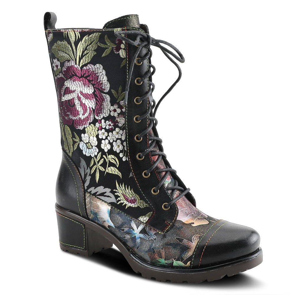 History of Victorian Boots & Shoes for Women Spring Step LArtiste Stylista Womens Black Boot Euro 42 US 10.5 - 11 M $159.95 AT vintagedancer.com