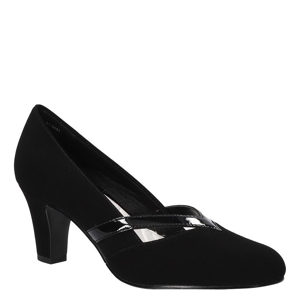 1950s Style Clothing & Fashion Easy Street Pleasant Womens Black Pump 12 W $59.95 AT vintagedancer.com