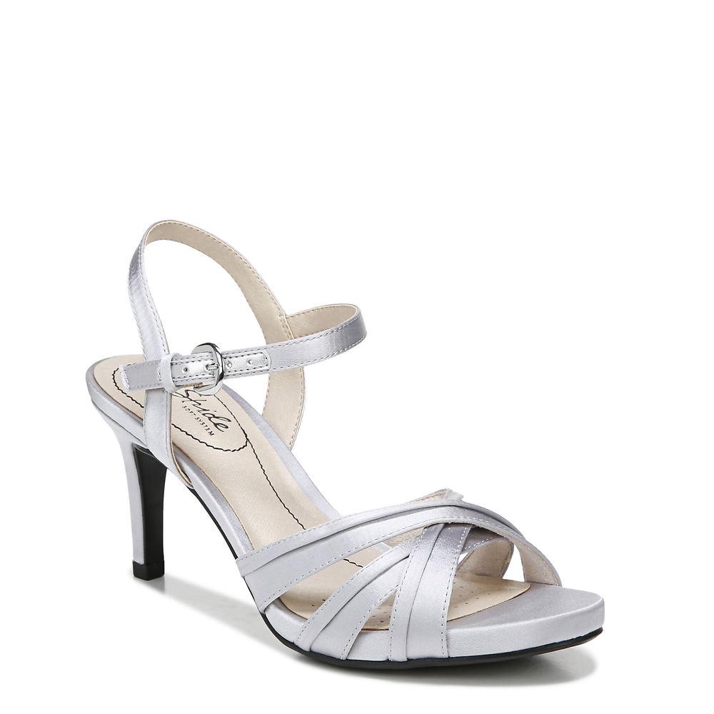 70s Shoes, Platforms, Boots, Heels | 1970s Shoes Life Stride Maebree Womens Silver Pump 7 M $74.95 AT vintagedancer.com