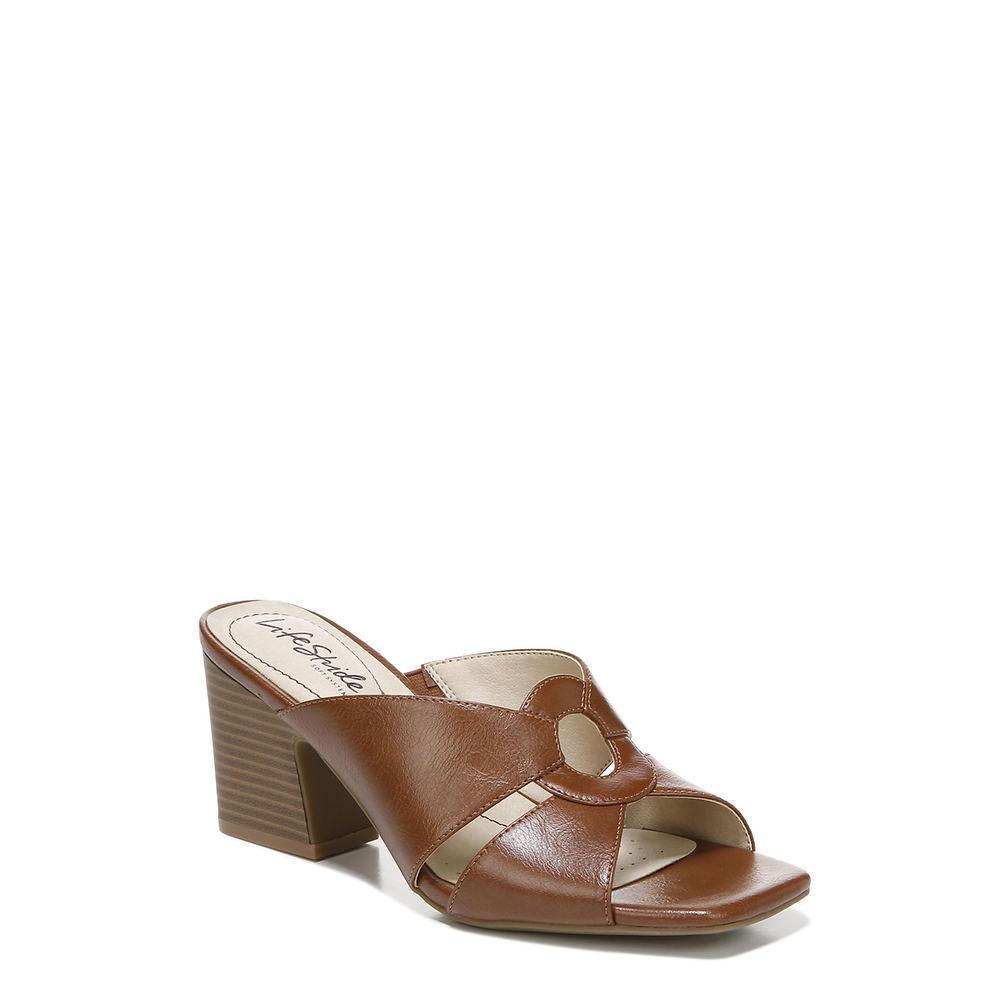 70s Shoes, Platforms, Boots, Heels | 1970s Shoes Life Stride Thrill Womens Brown Sandal 5.5 M $69.99 AT vintagedancer.com