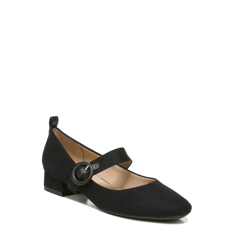 70s Shoes, Platforms, Boots, Heels | 1970s Shoes Life Stride Chic Womens Black Slip On 11 W $69.99 AT vintagedancer.com