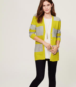 Image of Striped Boyfriend Cardigan