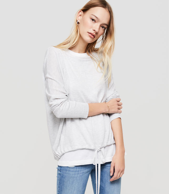 Primary Image of Lou & Grey Drawstring Sweater