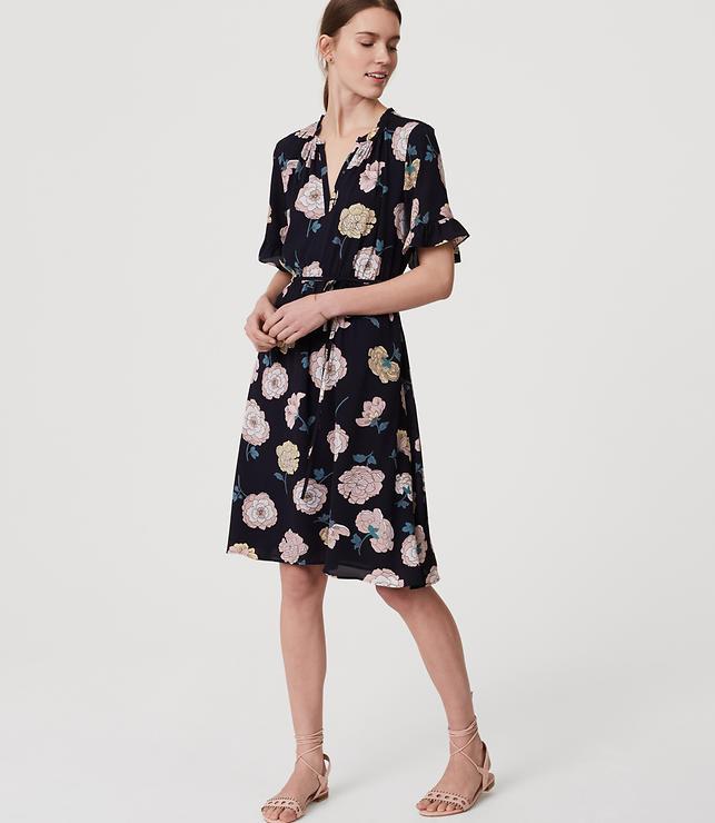 Primary Image of Peony Split Neck Dress