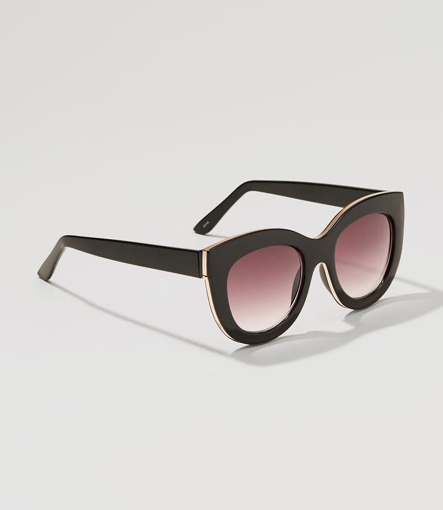 Primary Image of Metallic Edged Cateye Sunglasses