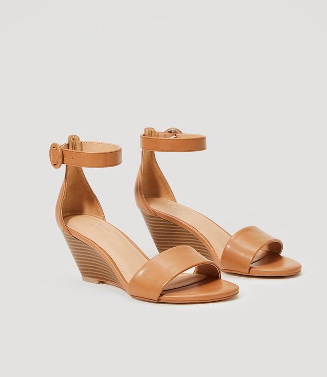 Primary Image of Ankle Strap Wedge Sandals