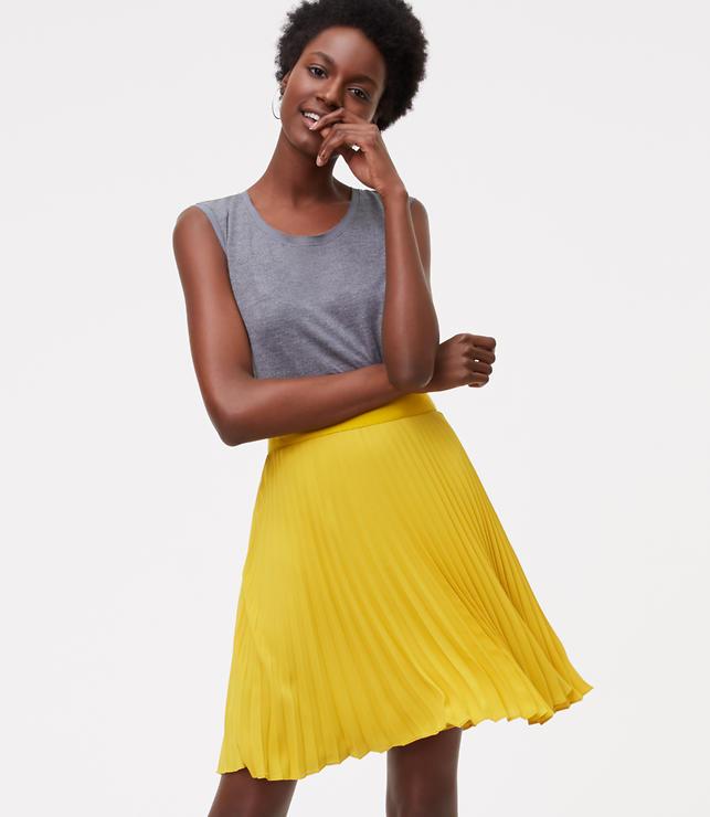 Pleated Skirt   LOFT